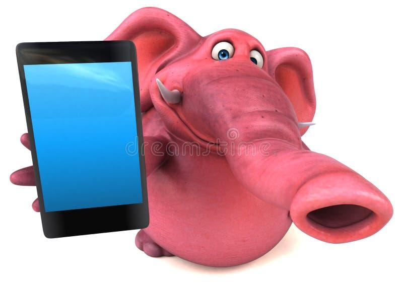 Слон потехи - иллюстрация 3D иллюстрация штока