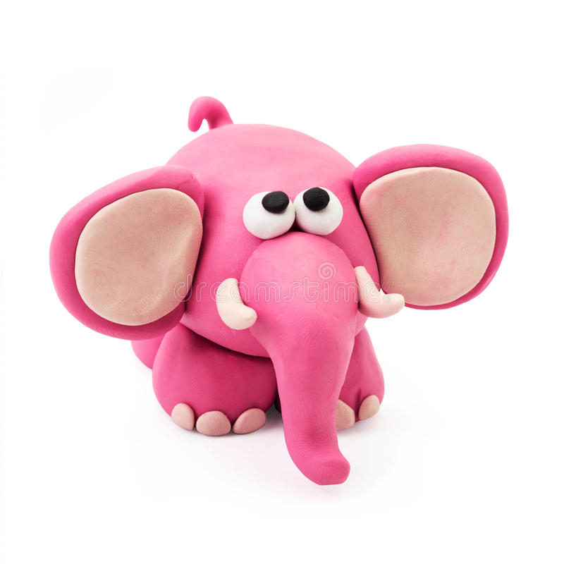Слон пластилина стоковое фото