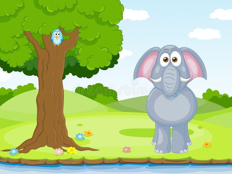 слон смешной иллюстрация вектора