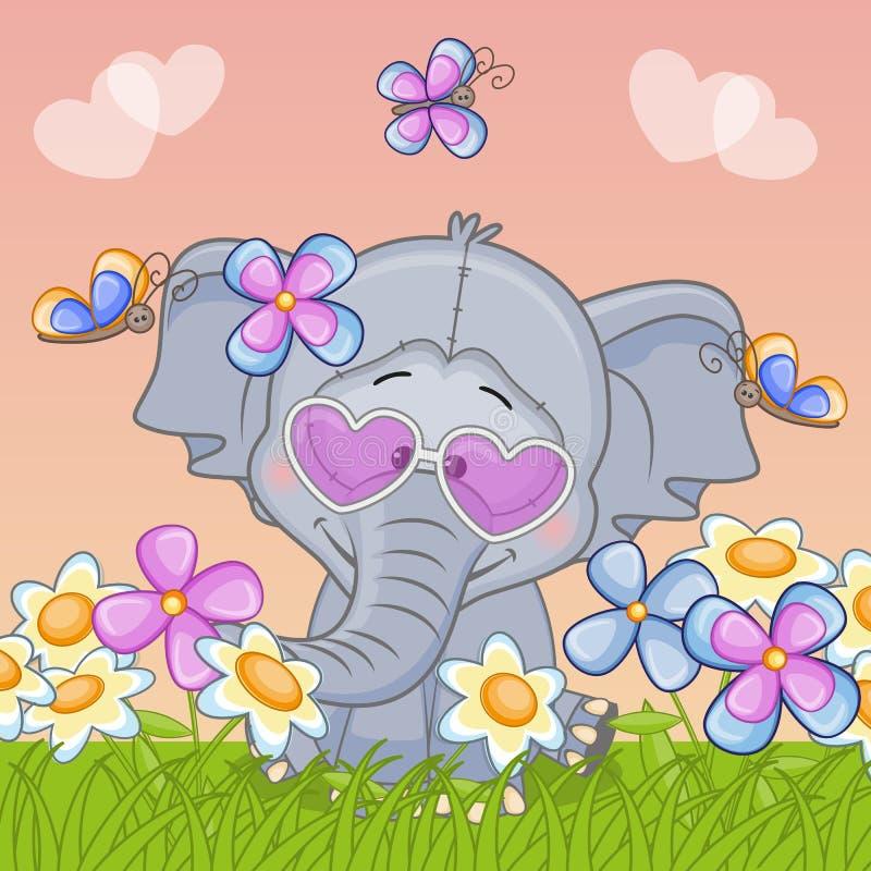 Слон из цветов картинки