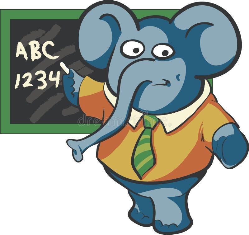 Слон учителя иллюстрация вектора