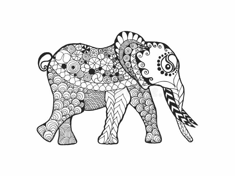 Слон иллюстрация вектора
