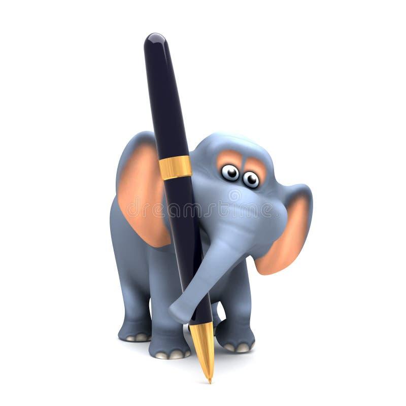 слон 3d пишет бесплатная иллюстрация