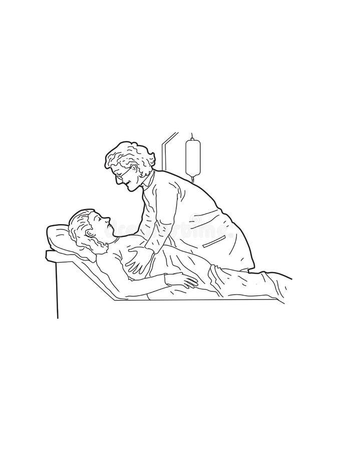 С пациентом иллюстрация штока