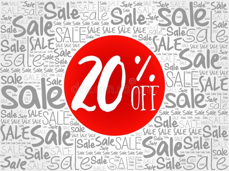20% С продажи формулирует облако бесплатная иллюстрация