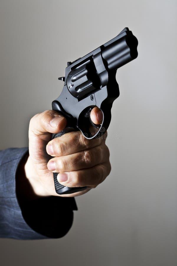 С пушкой стоковое фото