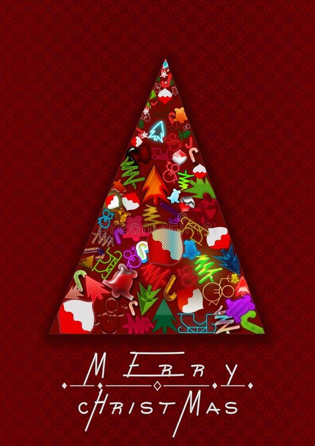 С Рождеством Христовым иллюстрация, графики, карточка стоковые изображения
