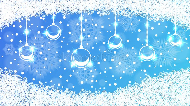 С Рождеством Христовым и с новым годом абстрактная предпосылка иллюстрация вектора