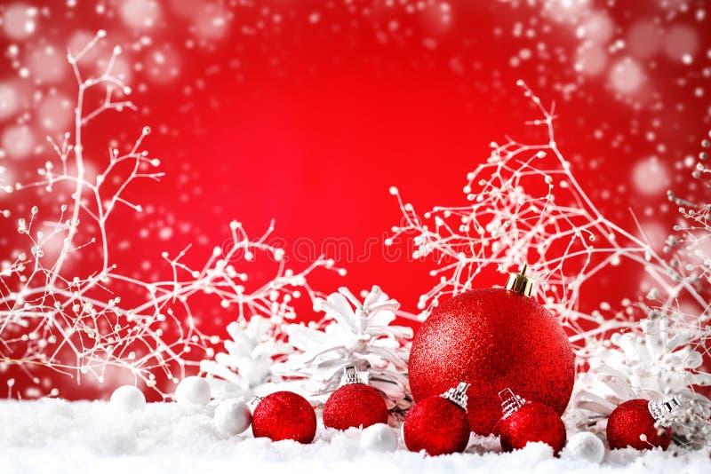 С Рождеством Христовым и с новым годом Предпосылка с украшениями Нового Года, предпосылка ` s Нового Года с космосом экземпляра стоковое изображение rf