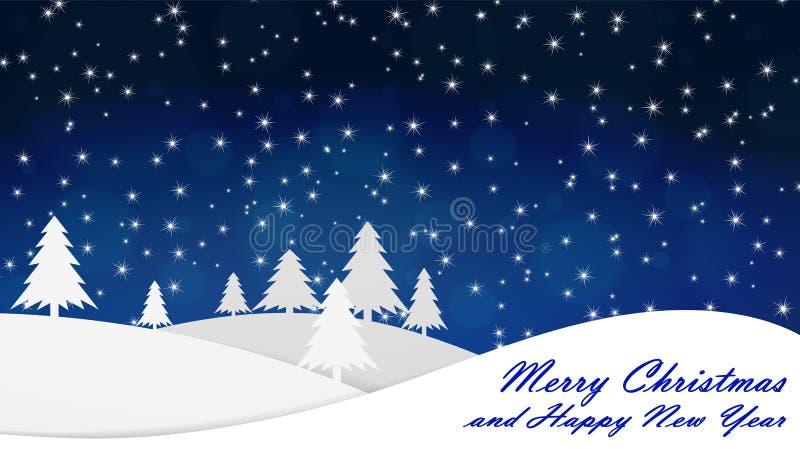 С Рождеством Христовым и с новым годом Справочная информация Выравнивающся, падения снега иллюстрация штока