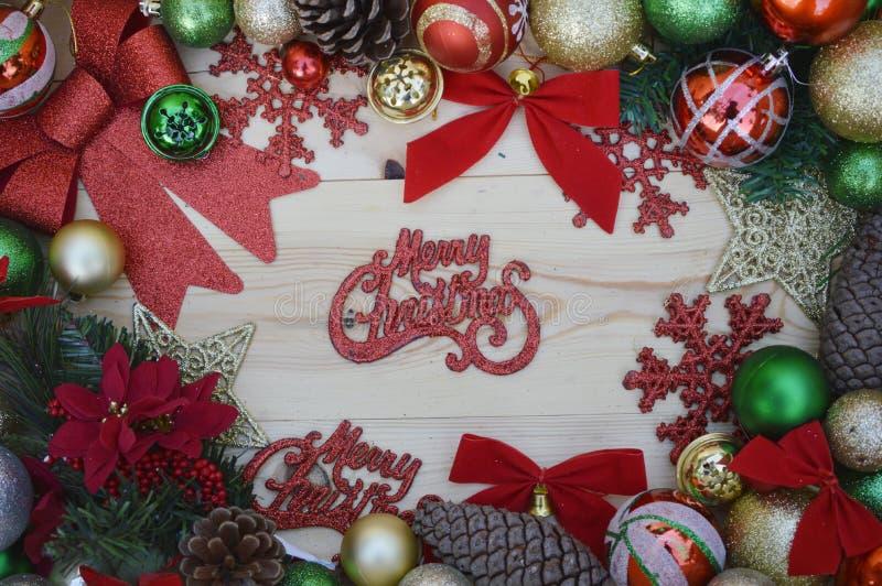 С Рождеством Христовым и с новым годом стоковая фотография