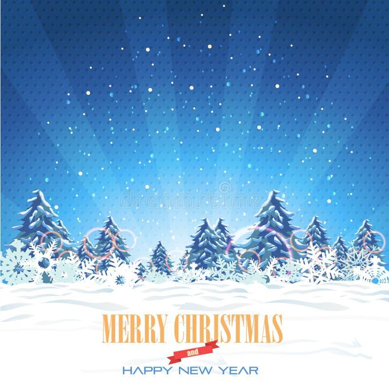 С Рождеством Христовым и предпосылка с новым годом иллюстрация штока