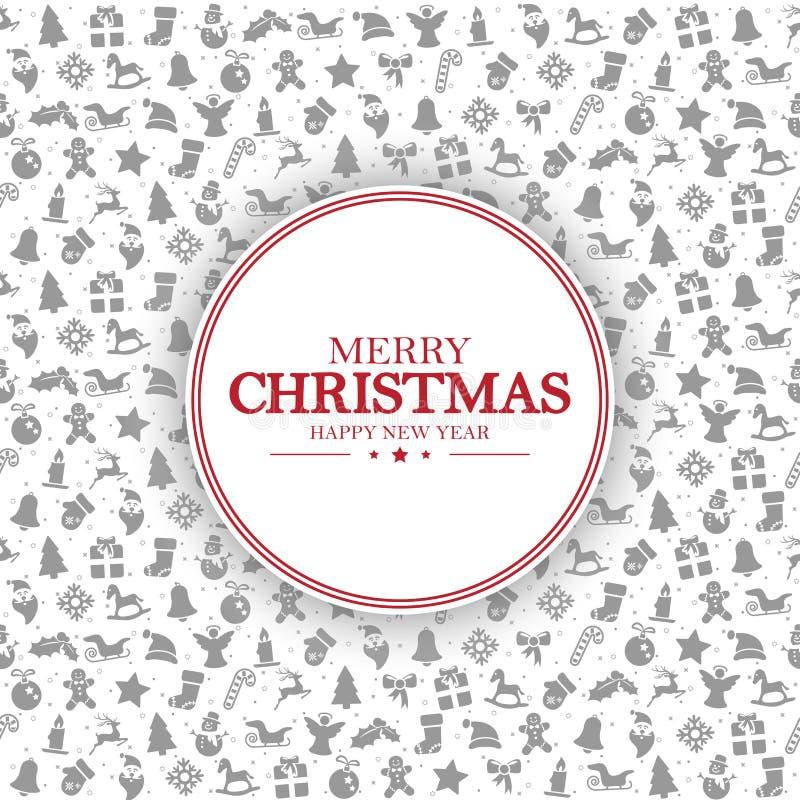 С Рождеством Христовым и счастливые приветствия Нового Года иллюстрация штока