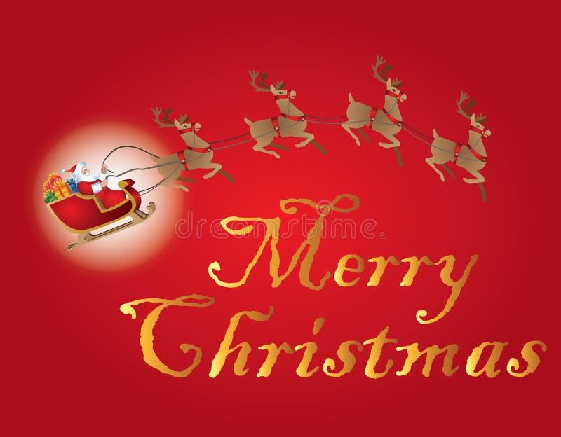 С Рождеством Христовым праздненство иллюстрация вектора