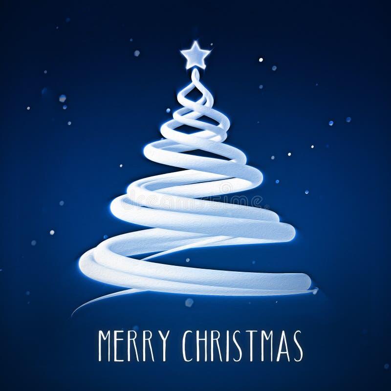 С Рождеством Христовым рождественская елка с звездой иллюстрация штока