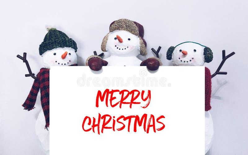 С Рождеством Христовым снеговика стоковые фотографии rf