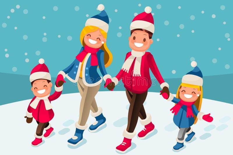 С Рождеством Христовым счастливая карточка Нового Года иллюстрация вектора