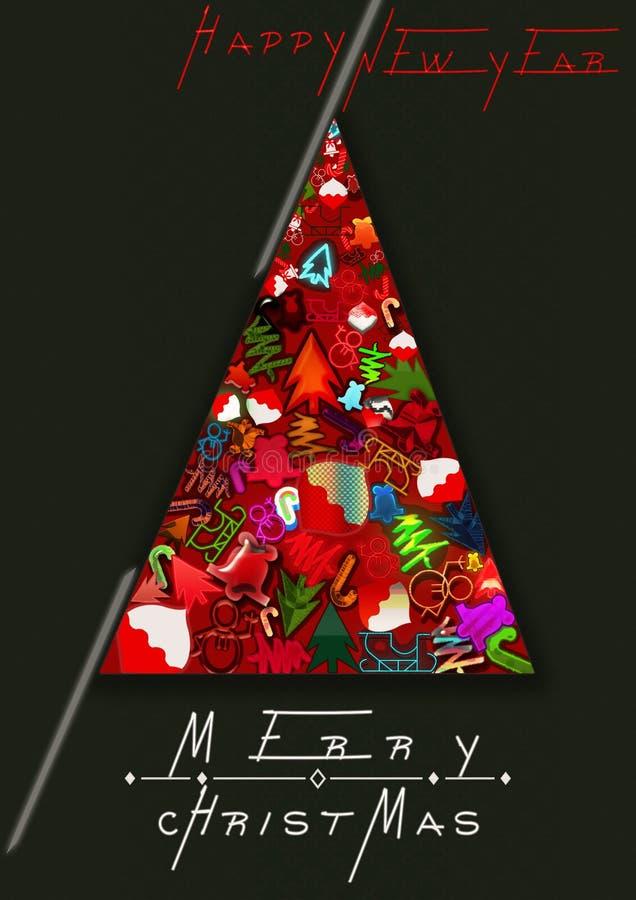 С Рождеством Христовым, 2018, ilustration стоковая фотография