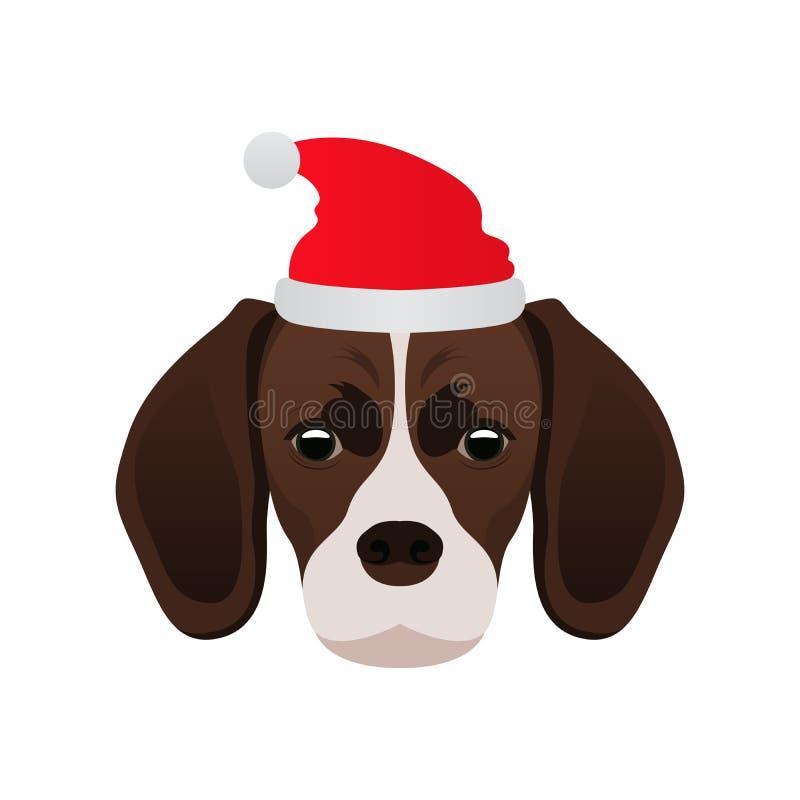 Download С Рождеством Христовым бигль собаки Иллюстрация вектора - иллюстрации насчитывающей молодо, смешно: 81813352