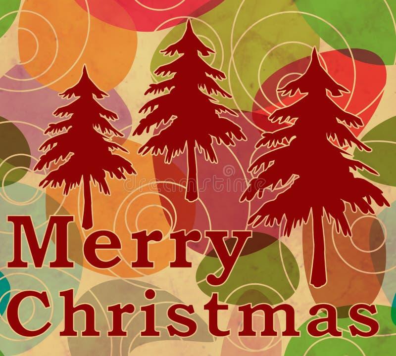 С Рождеством Христовым винтажный стиль бесплатная иллюстрация