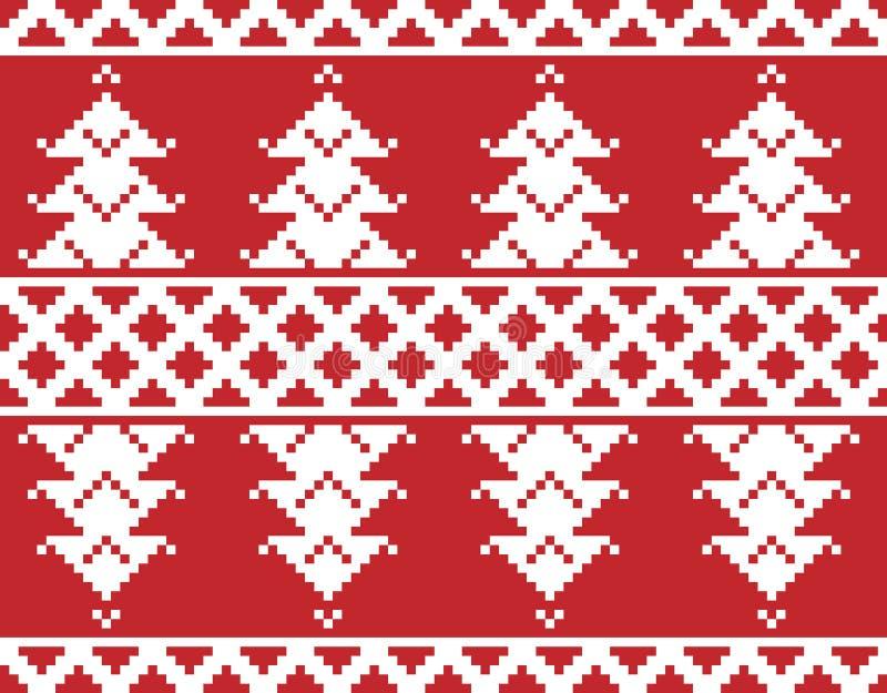 С Рождеством Христовым вышивка иллюстрация вектора