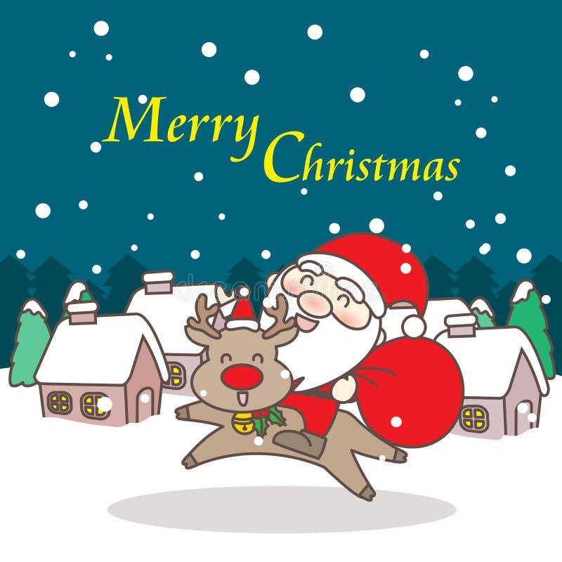 С Рождеством Христовым день иллюстрация вектора