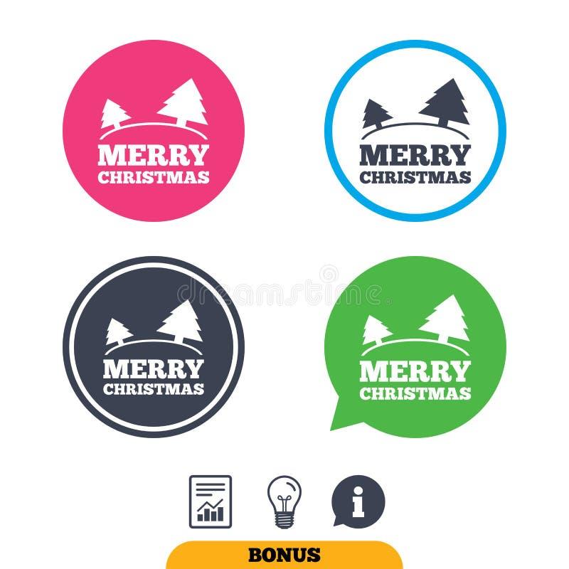 Download С Рождеством Христовым значок знака Символ деревьев Иллюстрация вектора - иллюстрации насчитывающей уплотнение, документ: 81804237