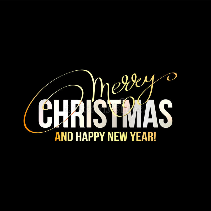 С Рождеством Христовым дизайн литерности иллюстрация штока