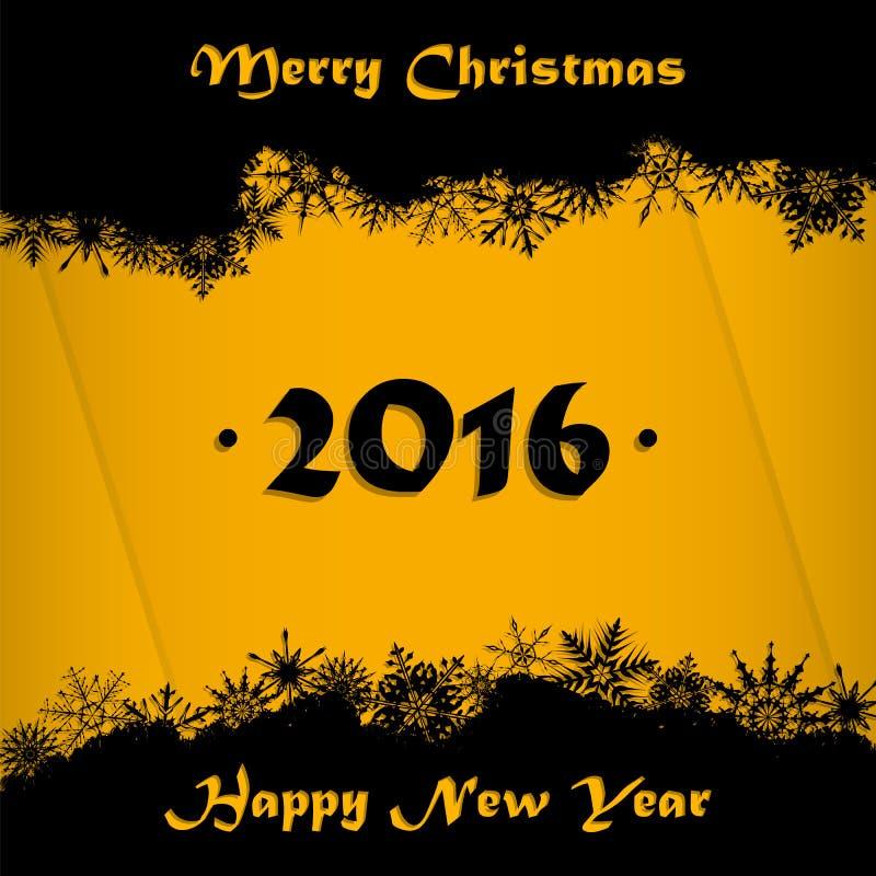 С Рождеством Христовым и счастливая предпосылка карточки Нового Года 2016 бесплатная иллюстрация
