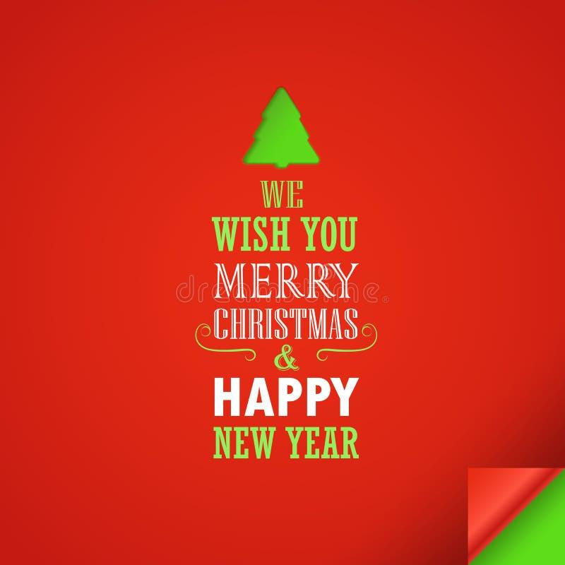 С Рождеством Христовым и счастливый автомобиль приветствию Нового Года иллюстрация вектора