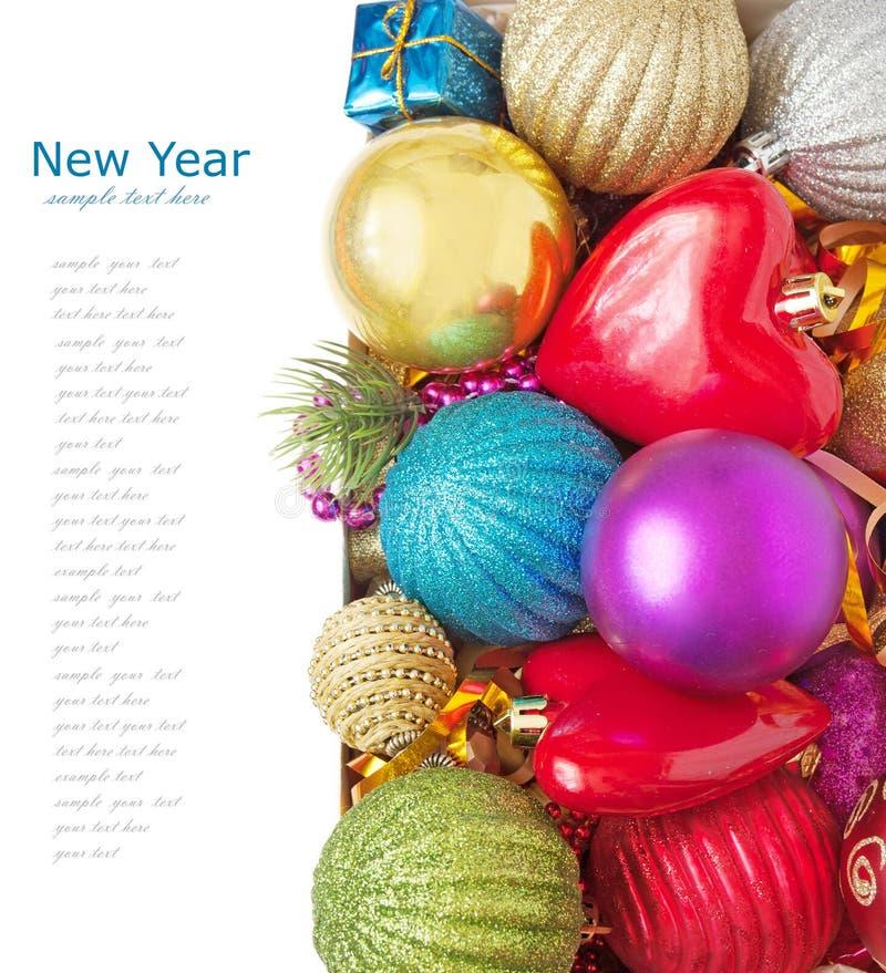 С Рождеством Христовым и с новым годом стоковые фотографии rf