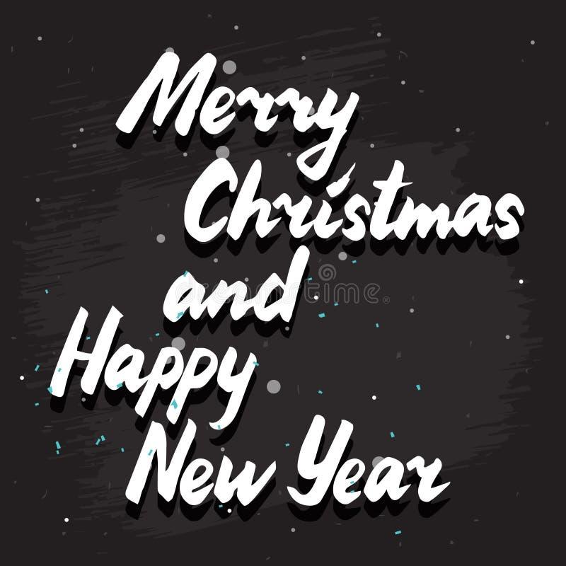С Рождеством Христовым карточка литерности иллюстрация вектора