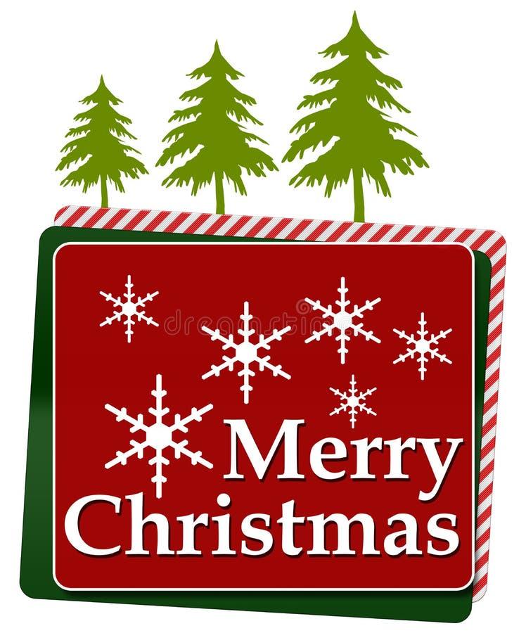 С Рождеством Христовым красным квадраты округленные зеленым цветом иллюстрация штока