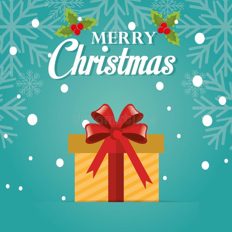 С Рождеством Христовым красочная карточка бесплатная иллюстрация