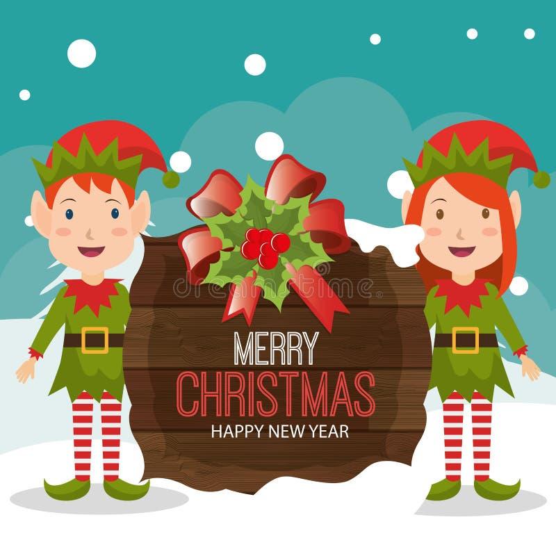 С Рождеством Христовым красочный дизайн карточки иллюстрация штока