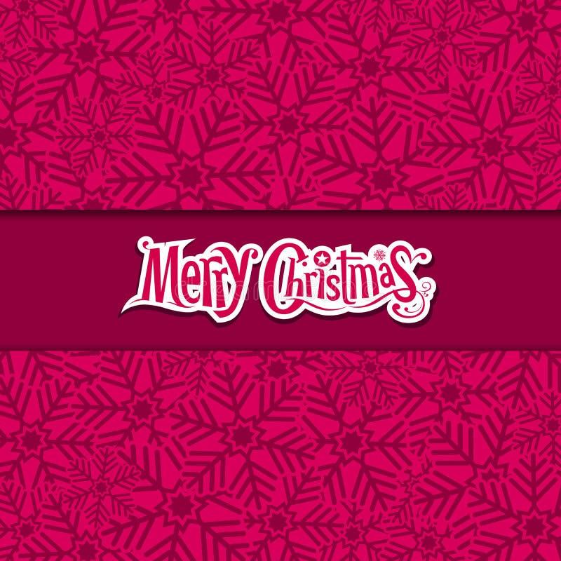 С Рождеством Христовым поздравительная открытка снежинки иллюстрация вектора