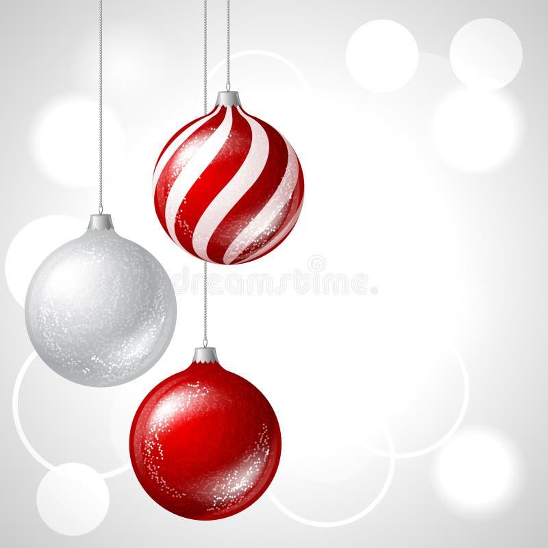 С Рождеством Христовым предпосылка вектора с лоснистым иллюстрация вектора