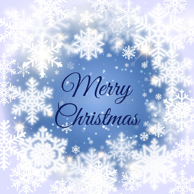 С Рождеством Христовым предпосылка сообщения и света с снежинками вектор экрана иллюстрации 10 eps иллюстрация штока