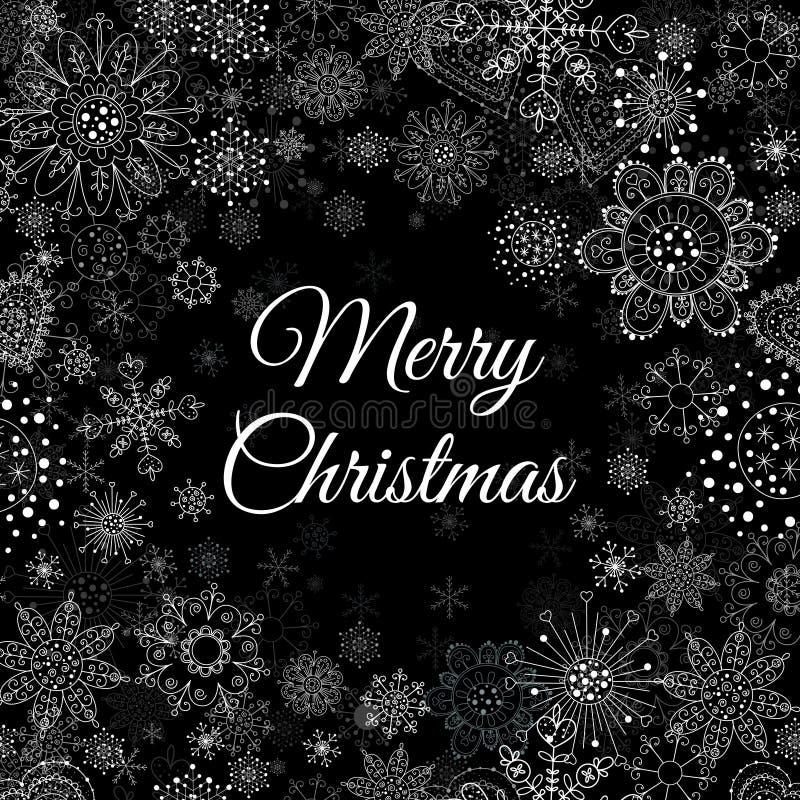 С Рождеством Христовым предпосылка сообщения и света с снежинками вектор экрана иллюстрации 10 eps иллюстрация вектора