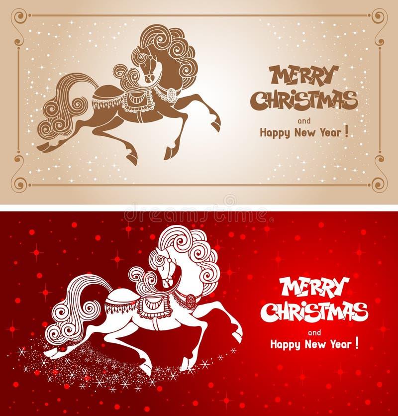 С Рождеством Христовым рождественская открытка бесплатная иллюстрация