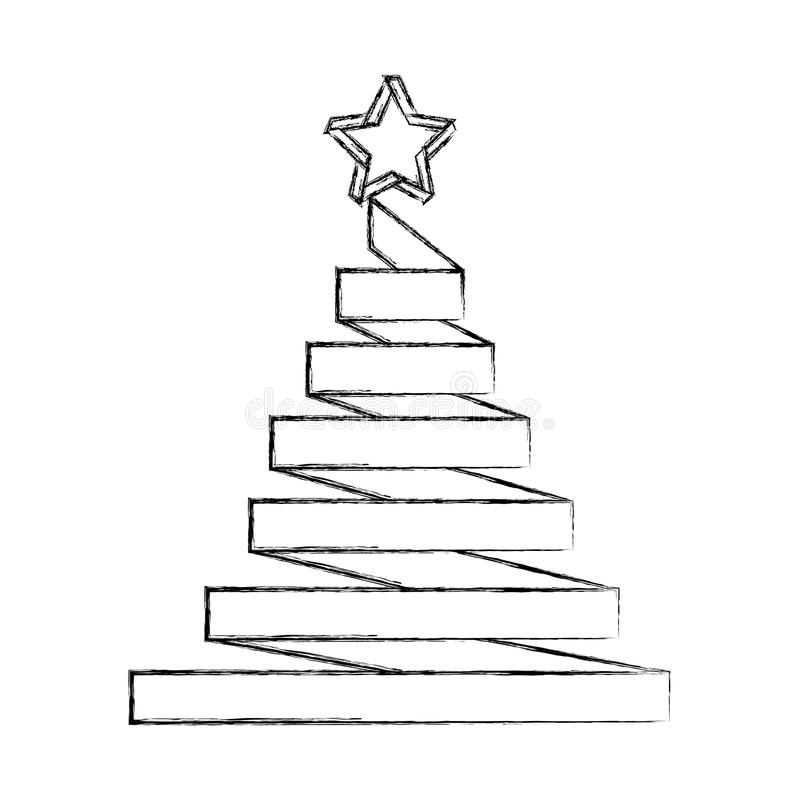 С Рождеством Христовым сосна бесплатная иллюстрация