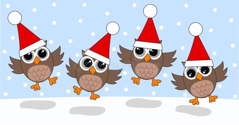 С Рождеством Христовым счастливые праздники иллюстрация вектора