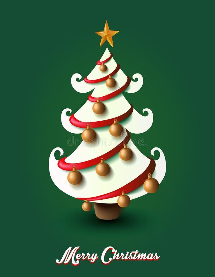 С Рождеством Христовым файл дерева EPS10 украшения элементов. иллюстрация вектора