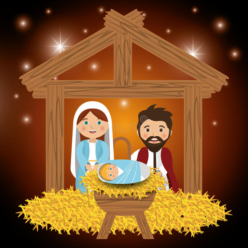 С Рождеством Христовым шаржи иллюстрация штока