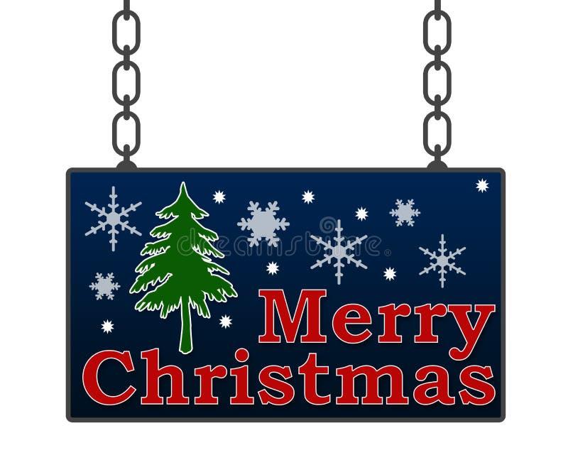 С Рождеством Христовым шильдик иллюстрация штока