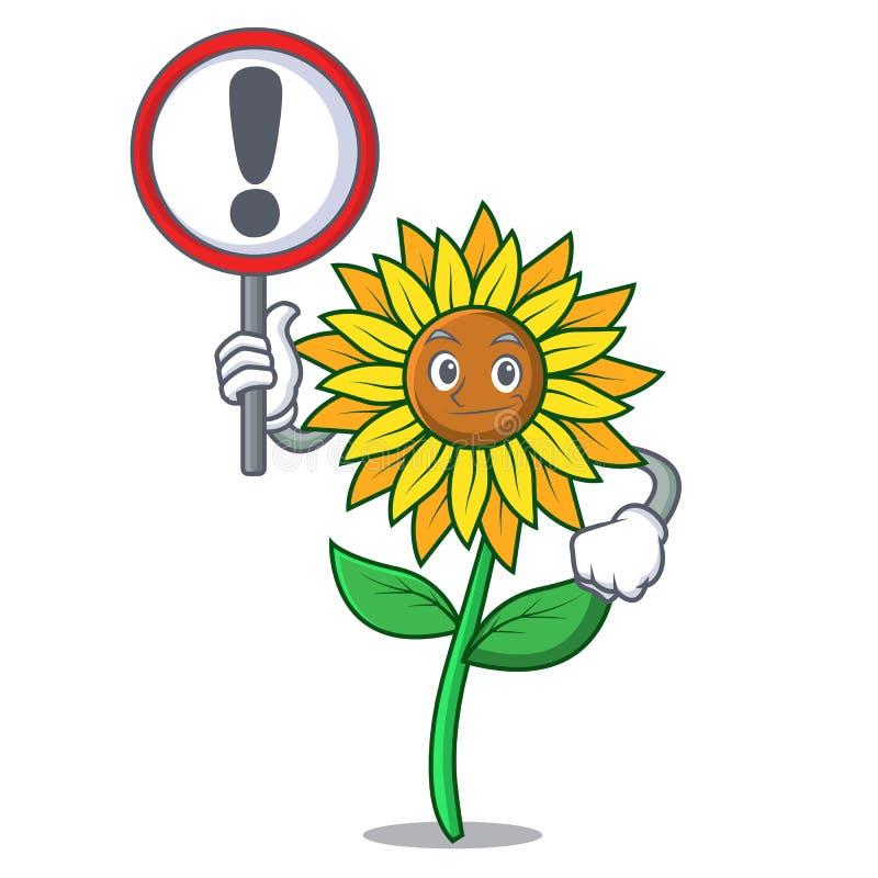 С стилем шаржа характера солнцецвета знака иллюстрация штока