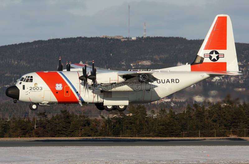 Служба береговой охраны C130 Соединенных Штатов стоковое изображение
