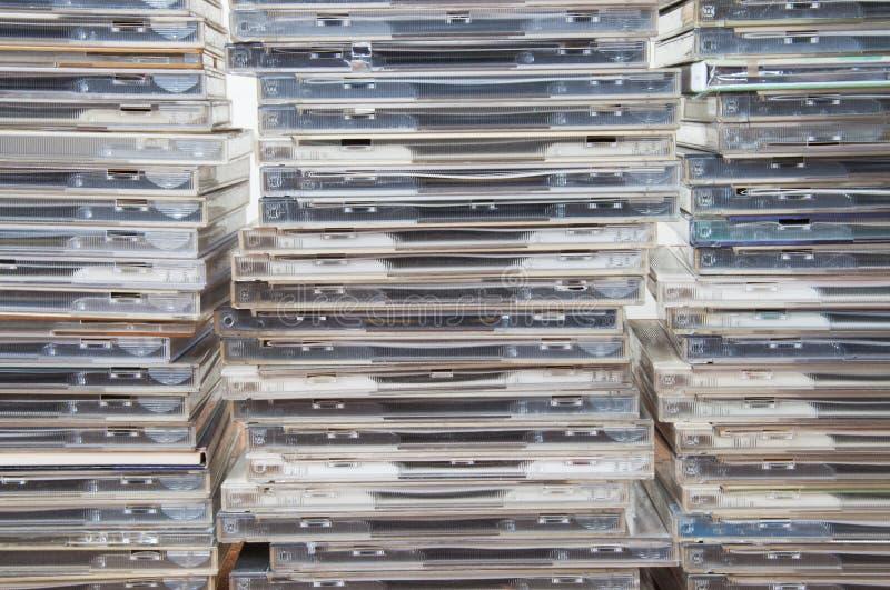 Случаи компакт-диска стоковое изображение rf