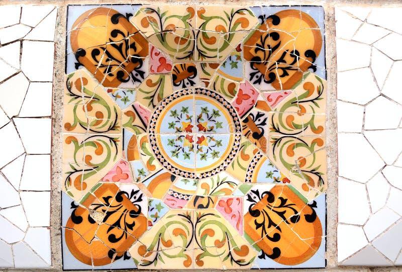 Случайная картина мозаики - Gaudi стоковая фотография rf
