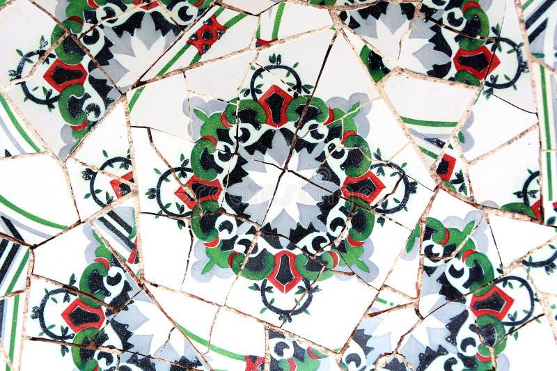Случайная картина мозаики - Gaudi стоковые фотографии rf